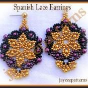 Spanish lace earrings - via @Craftsy