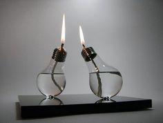 lightbulb candles!