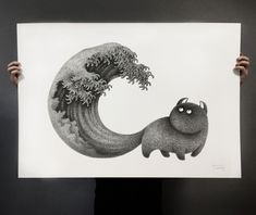 Using only black ink, Malaysian illustrator Kamwei Fong has created a menagerie of playful black cats. Despite their contextual isolation and uniform style, each of Fong's cats display unique personalities: some are fluffed and puffed into self-contained balls; others look with curiosity or wariness