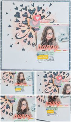 I love how this page by Wilna has lots of details and layering but definitely one that you could scrap-lift!...