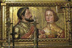 Fernando de Aragón (1452-1516) e Isabel de Castilla (1451-1504), un relicario en la Capilla Real, la Capilla Real. Los padres de Catalina de Aragón, primera esposa de Enrique VIII.