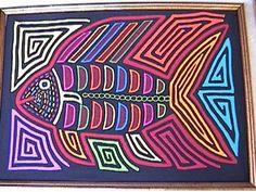 Fish Mola made by Kuna (Cuna) Indian people of Panama's San Blas Islands.