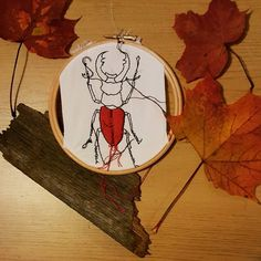 You will soon be able to buy original artworks from my etsy shop! Watch has this space! Working on photos for my new embroidery hoop collection! http://ift.tt/2fcrFO5 #bristolartist #textileartist #embroidery #embroideryhoops #bug #stagbeetle #autumn