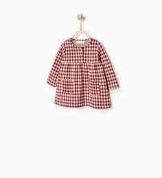 Image 1 of Gingham check dress from Zara Little Girl Fashion, Baby Girl Fashion, Toddler Fashion, Fashion Kids, Pregnancy Fashion Winter, Kids Robes, Baby Gown, Check Dress, Baby Girl Dresses