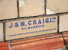 J. & M. Craig, Ltd., Kilmarnock. Makers of White and Coloured Glazed Bricks, Sinks, &c.