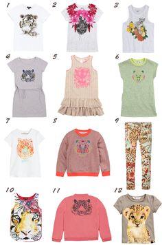 Tigres tendencia moda infantil / Tigers everywhere Tween Fashion, Little Girl Fashion, Toddler Fashion, Fashion Outfits, Kids Girls Tops, Kids Boys, Girls Top Design, Moda Tween, Summer Trends