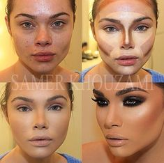 Um can you contour without a gallon of makeup, wow.