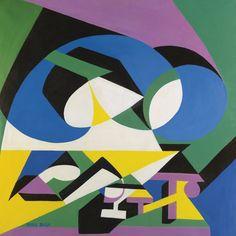 thunderstruck9: Giacomo Balla (Italian, 1871-1958), Motivo con la parola Buon Appetito [Motif with the word Buon Appetito], c.1925-28. Oil on canvas, 77.1 x 77.4 cm.