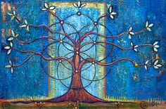 Tree of Life, a Oil on Canvas by Judith Shaw from United States. It portrays…