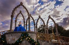 A dramatic sky is the perfect element for this shot taken at the stage of the castle at Magic Kingdom