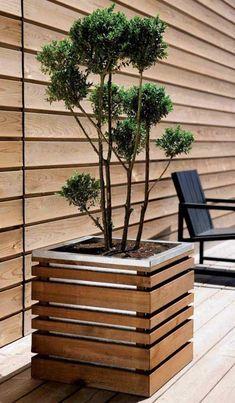 Primary balcony garden plants ideas exclusive on interioropedia.com Garden Planter Boxes, Wood Planter Box, Wooden Planters, Outdoor Planters, Garden Plants, Planter Ideas, Balcony Gardening, Fairy Gardening, Shade Garden
