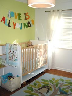 LOVE this nursery decor!!  Owls and Beatle quote.... YES!