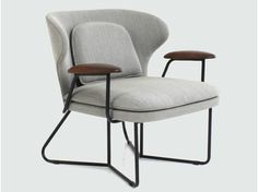 Upholstered fabric armchair with armrests CHILLAX LOUNGE CHAIR - STELLAR WORKS