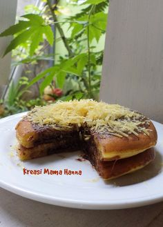 Pancake Chocolate Filling with Grated Cheese on top