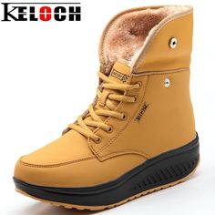 2016 For Winter Women Plush Shoes Women Wedges Ladies Fashion Heighten Snow Boots Women Zapatos Mujer Keep Warm 3 Color
