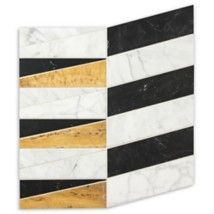 Liaison by Kelly Wearstler offers boldly distinctive stone designs. Stone Mosaic, Mosaic Tiles, Mosaics, Futuristic Furniture, Kelly Wearstler, Mosaic Designs, Danish Design, Textures Patterns, Three Dimensional