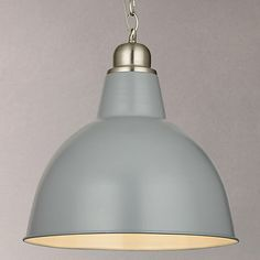 John Lewis Croft Collection Aiden Factory Ceiling Light, Grey