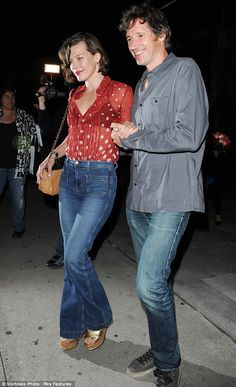 Milla Jovovich with husband Paul W.S. Anderson