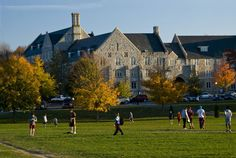 Campbell Hall is a residence hall along the Drillfield.
