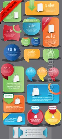 Shopping Banner Web Elements - Free Vector
