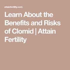 Benefits of taking clomid