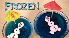 Postre Gelatina Olaf de Frozen y Su Novia Ola con malvaviscos
