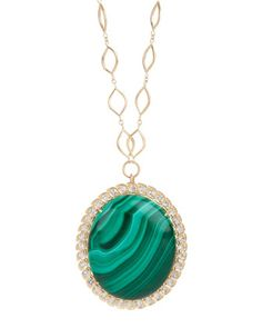 Silver Pendant with Malachite Stackable Pendant Handmade Necklace