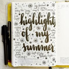 What were the highlights of your summer? We weren't able to take a big family vacation this year, but I still had bits of fun here and there #journal #artjournal #hobonichi #planner #diary #notebook #filofax #mtn #midori #travelersnotebook #midoritravelersnotebook #scrapbooking #stationery #pens #doodles #doodling #type #typography #letters #lettering #handwriting #handlettering #calligraphy #moderncalligraphy #brushpens #brushlettering