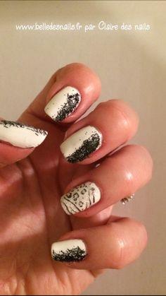 Modèle Black and presque white - Belle des nails
