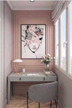 Room Design Bedroom, Home Room Design, Dream Home Design, Home Office Design, Home Office Decor, Home Interior Design, Bedroom Decor, House Design, Home Decor