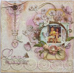 Love & Laughter **The Scrapbook Diaries ~ NEW Kit!** - Prima - Princess Collection + FabScraps - French Heritage Collection. By Gabrielle Pollacco