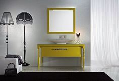 Yellow - Deko di Idea | #design #arredamento #bagno #bathroom |