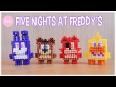 3D Perler Beads Five Nights at Freddy's Kawaii Edition - YouTube