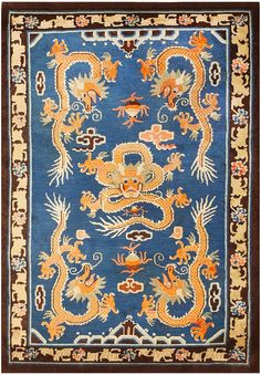 Antique Vintage Decor Antique Chinese Dragon Rug 48069 Main Image - By Nazmiyal - View this beautiful antique Chinese dragon area rug, which is available for purchase from the Nazmiyal Collection in New York City.