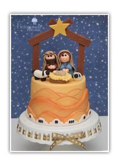 Christmas Nativity Cake - Cake by Victorious Cupcakes