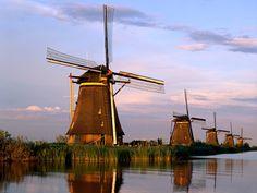 windmills Kinderdijk, Holland