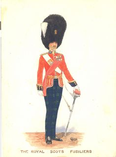 Royal Scots Fusiliers Post Card c1900