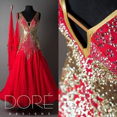 #DoreDesigns ➡️ RED STANDARD WITH GOLD STONE WORK AND GOLD SEQUIN FABRIC