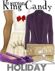 http://disneybound.tumblr.com Disney fashion King Candy Wreck It Ralph
