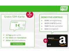 Knaller: 7,50 Euro geschenkt durch Prepaid-Dreierpaket mit je 500 MByte https://www.discountfan.de/artikel/tablets_und_handys/knaller-7-50-euro-geschenkt-durch-prepaid-dreierpaket-mit-je-500-mbyte.php 30 Tage lang EU-weit kostenlos surfen und dabei noch 2,50 Euro in Amazon-Gutscheinen geschenkt bekommen: Dieses Gratis-Angebot können Discountfans ab sofort dreimal pro Person abschließen – macht 1,5 GByte Surfvolumen und 7,50 Euro Gewinn. Knaller: 7,50 Euro geschenkt