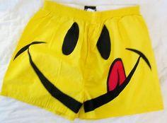 JOE BOXER Boxers M Smile Face Yellow Medium Smiley Underwear Shorts Trademark