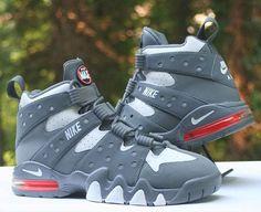 519a75e8f Nike Air Max2 CB  94 Charles Barkley Cool Grey White 305440-005 Men s Size 8