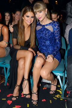 Selena Gomez and Taylor Swift legs crossed