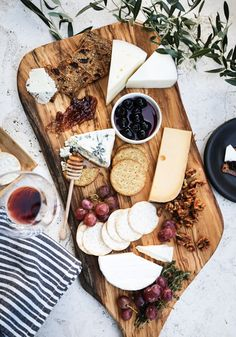 A beautiful cheese board is the perfect way to put together an impressive spread for an end-of-summer party. Be sure to utilize a range of flavors and textures and fill in the gaps with tasty extras like crispy crackers, and fresh fruit!