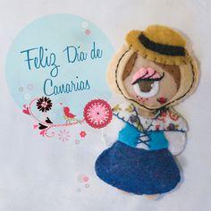 Detalles para romerías y fiestas tradicionales, o ¿por qué no? para cualquier día. Feliz Día de Canarias!! #canarias #diadecanarias #felt #fieltro #cute #lovely #soft #brooch #broche #accesorio #detalle #gift #regalo #handmade #hechoamano