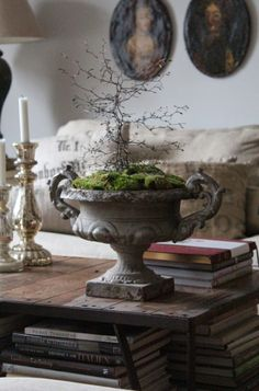 Coffee table Candlesticks, Books and Urn :: K&Co.blog: