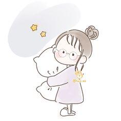 Cute Little Drawings, Cute Cartoon Drawings, Art Drawings For Kids, Cartoon Art, Kawaii Art, Kawaii Anime, Manga Anime One Piece, Cute Love Cartoons, Simple Cartoon