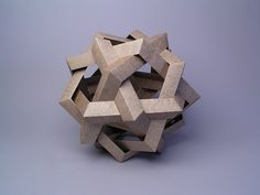 """Robert J. Lang - Makalu, opus 388 - """"This model is one of the 54 uniform-edge polypolyhedra; despite having 30 interwoven units, it is fairly easy to assemble."""""""
