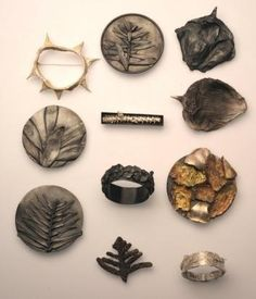 Botanical brooches: a selection of Marian Hosking's jewellery from the Botanical Edge exhibition.