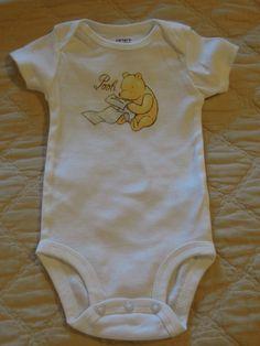 Classic Winnie the Pooh Onesie. $14.00, via Etsy.